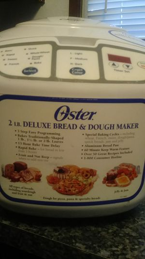 Oster 2lb deluxe bread and dough maker for Sale in Portland, OR