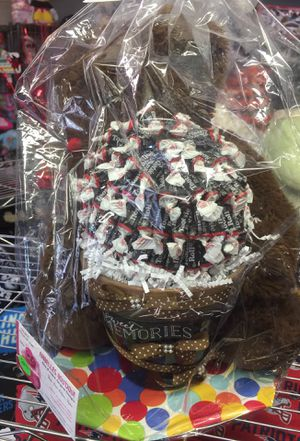 Bear with flower pot candy great gift for Sale in Fayetteville, NC