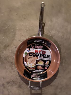 Red copper 12 inch pan for Sale in Streamwood, IL