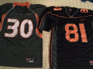 2 UM Nike official jerseys size small for Sale in Miami, FL
