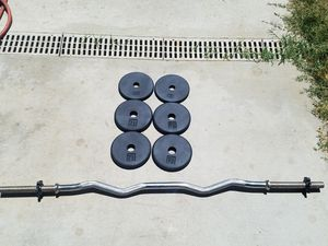 Curlbar with weights for Sale in Colton, CA