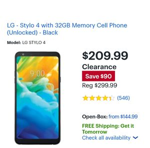 LG Stylo 4 in excellent condition for Sale in Williamsport, PA