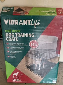 Vibrant life one door dog training crate for Sale in Citrus Springs,  FL