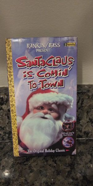 Santa Claus is comin' to Town vhs for Sale in Gaithersburg, MD