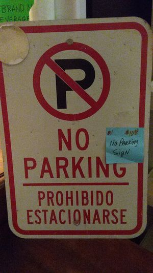 No parking sign for Sale in Fort Worth, TX