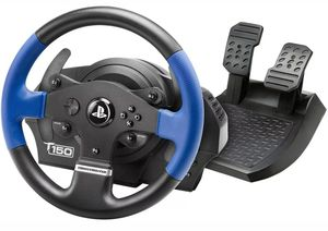 Thrustmaster T150 Force Feedback Racing Steering Wheel & Pedal set PS3 PS4 PC for Sale in Stow, OH