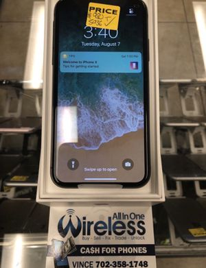 iPhone X 265gb unlocked only for Sale in Las Vegas, NV