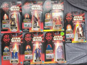 7 - Star Wars - Episode 1 - 3 3/4 Action Figure Collection for Sale in Oakdale, CA