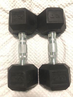 20 lb dumbbell weight set for Sale in Merritt Island, FL