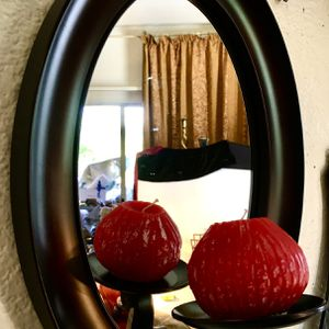 Beautiful heavy metal framed mirrored candle holder H14xW10xD5.5 inch Lbs4 for Sale in Chandler, AZ