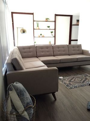 Mid Century Beige Sectional for Sale in Fountain Valley, CA