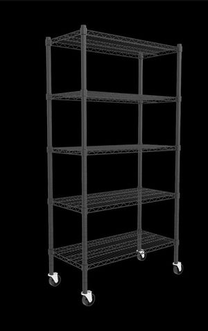 """5 Tier 60""""H Strengthen Commercial Adjustable Stainless Steel Wire Shelves Unit with Stiffeners with Wheels Wire Shelves Storage Racks Kitchen Garage for Sale in Oaklandon, IN"""