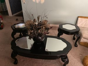 Black furniture coffee table and to end tables for Sale in Warner Robins, GA