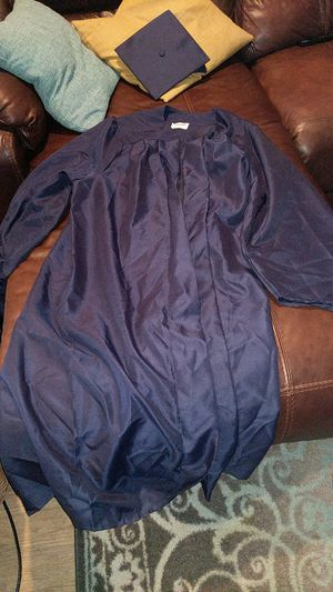 Graduation gown dark blue for Sale in Gilbert, AZ