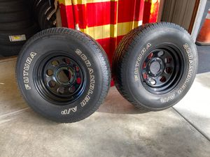 Pair of tires with rims 265/75R16 for Sale in Gibsonton, FL