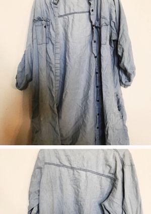 LONG Denim- Like Jacket! for Sale in Phoenix, AZ
