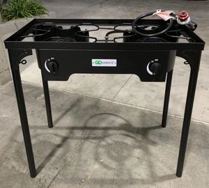 New 150000 BTU double burner outdoor camping camp site beach park stove BBQ grill portable 31x16x28 inches tall for Sale in Whittier, CA