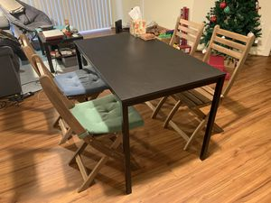 IKEA table with 4 chairs for Sale in Arlington, VA