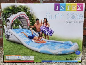 Intex Surf 'N Slide Inflatable Kids Water Park Play Center Swim 2 Rider Boards. for Sale in Sandy, UT