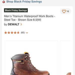 Dewalt Titanium Work Boots 9x for Sale in Riverside, CA
