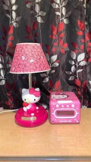 Hello kitty lamp + alarm clock radio for Sale in North Brunswick Township, NJ