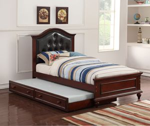 Brown Twin Bed Frame W/ Trundle for Sale in Fresno, CA