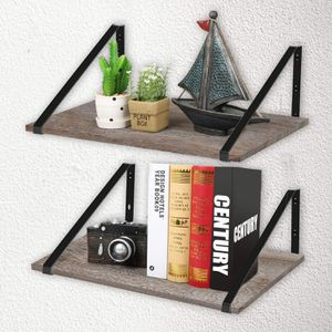 "Floating Shelves Wall Mounted-Rustic Wood Wall Shelves with Large Storage(L 17"" x W 11.8""), for Bedroom, Living Room, Bathroom, Kitchen, Office with for Sale in Burbank, CA"
