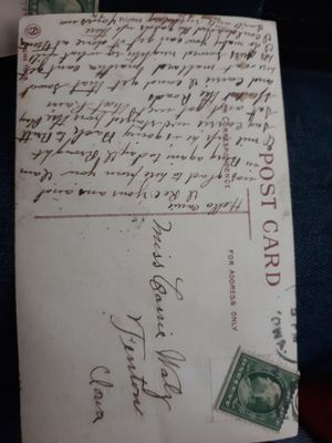 Antique post cards with rare Ben Franklin stamp for Sale in Northwood, IA