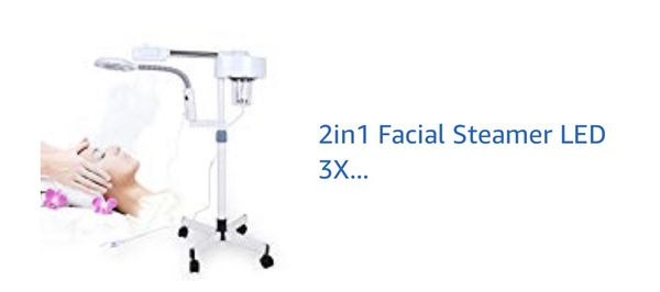 Facial steamer and magnifying lamp
