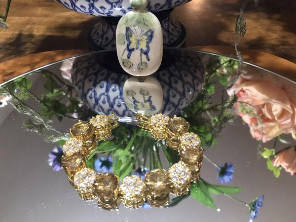 Pretty! Gold crystal Stone Bracelet