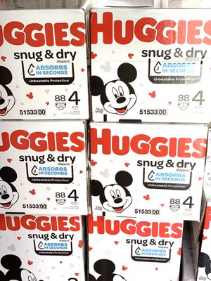 Huggies Snug dry size 4(88) diapers $24 per box for Sale in Gardena, CA