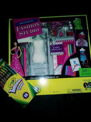 Creativity for Kids Fashion Design (4 Barbie) Crayola Twistables NEW for Sale in Mesa, AZ