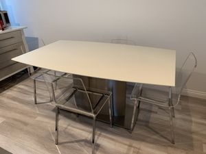 Marble dining table with 4 chairs for Sale in Los Angeles, CA