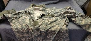 Army fatigue's 4 top and 3 bottoms army combat uniforms..w/ duffle bag and roll up bed.$45. for Sale in Houston, TX