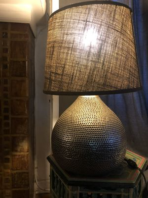 Silver side table lamp for Sale in Los Angeles, CA