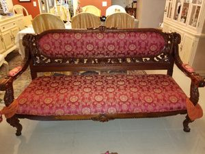 Antique furniture set, oriental style, hand crafted wood for Sale in Miami, FL