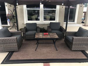 Outdoor patio furniture. Wicker Swivel Glider 4-Chairs Set for Sale in San Diego, CA