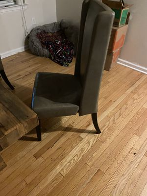 West elm talk back leather chairs for Sale in Jersey City, NJ