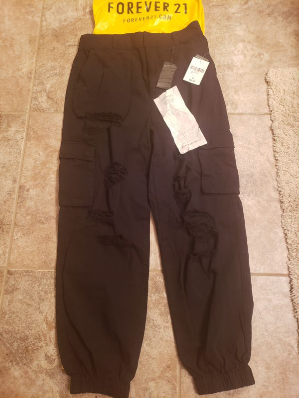 Distressed Joggers Size large
