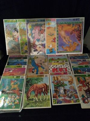 Vintage Walt Disney Golden Tray Puzzles for Sale in Clifton Heights, PA