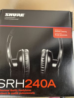 Shure SRH 240A Professional Quality Headphones for Sale in Pasadena, CA