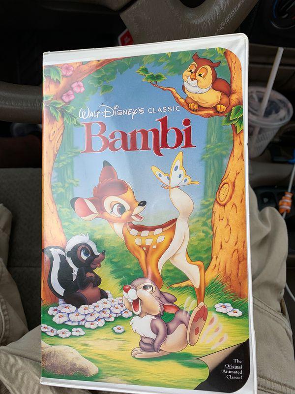 Bambi VHS with the black diamond