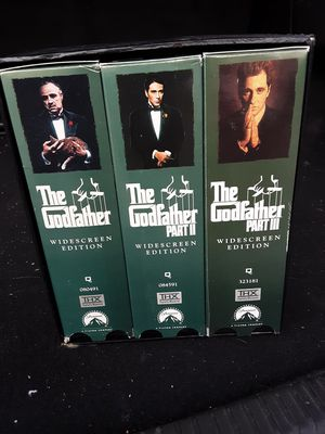 The Godfather Collection 25th Anniversary Trilogy 6x Widescreen VHS Boxset for Sale in Appleton, WI