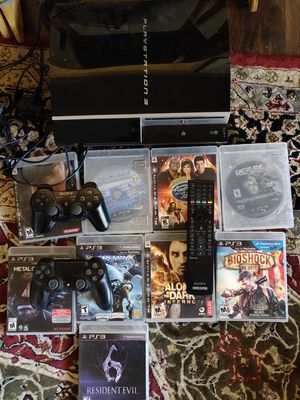 PS3 160gb fat 9 games works great for Sale in Las Vegas, NV