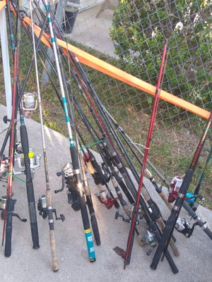Fishing rods and reels starting @ $10 and up mpu for Sale in San Antonio, TX