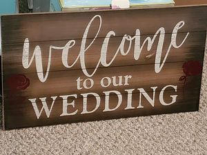 Welcome to our Wedding sign for Sale in Lynchburg, VA