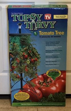 Topsy Turvy tomato and vegetable planter tree . New in box . for Sale in Bakersfield,  CA