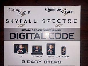 Daniel Craig (James Bond) Collection 4K Digital Code for Sale in West Puente Valley, CA