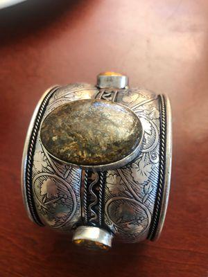 Bronzite and smoky quartz cuff bracelet size 7.5 for Sale in Suisun City, CA