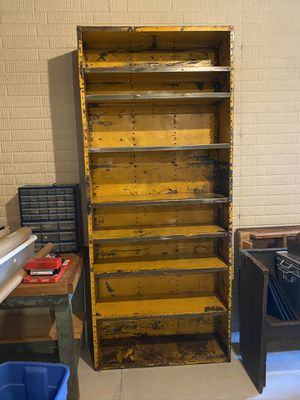 Antique Industrial Metal Bookshelf for Sale in New Albany, OH